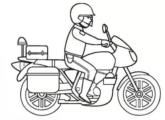 نقاشی موتور برای بچه ها