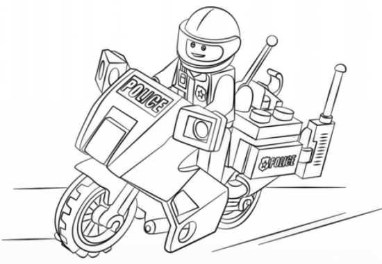نقاشی موتور سیکلت پلیس