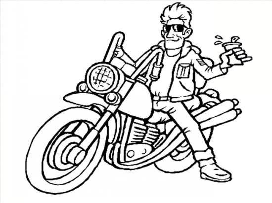 نقاشی موتور مخصوص کودکان