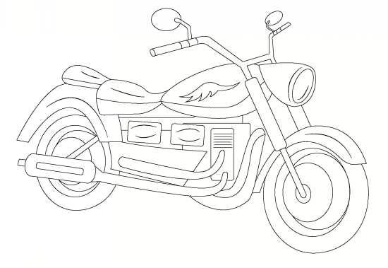 نقاشی موتور مخصوص بچه ها