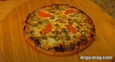 روش تهیه پیتزای قارچ و گوشت