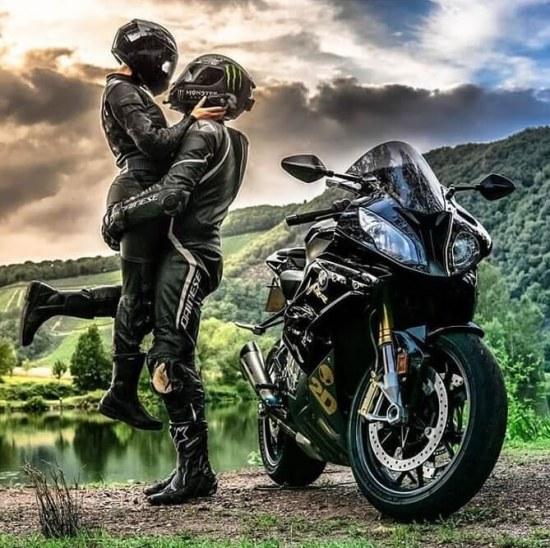 عکس پروفایل موتور سواری عاشقانه و زیبا