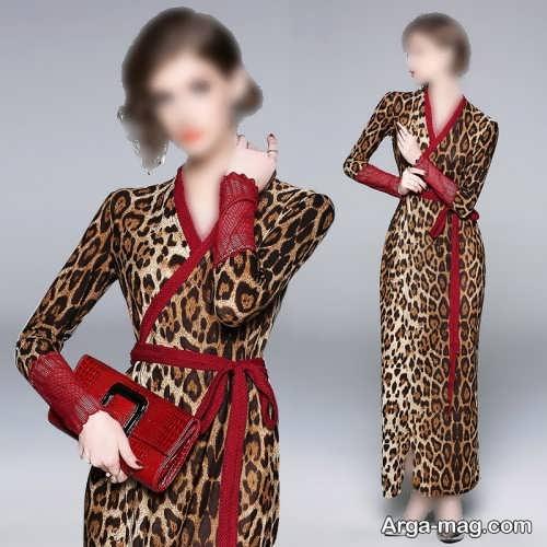 طرح های لباس پلنگی