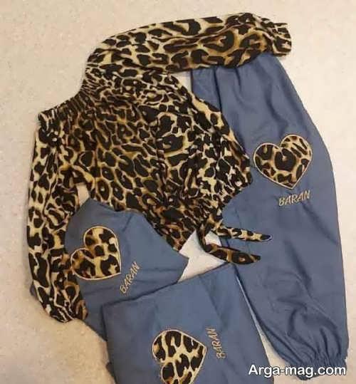 ست لباس پلنگی برای خانم ها
