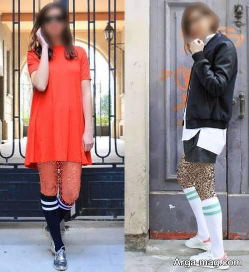 ست جوراب زنانه با لباس