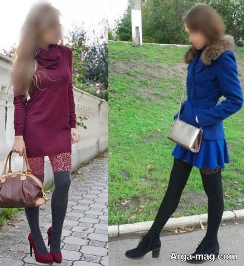 مدل ست جوراب با لباسها