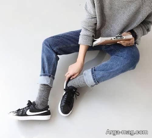 مدل ست لباس با جوراب