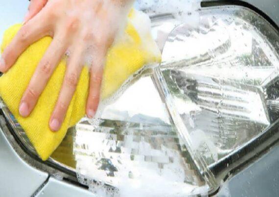 براق کردن چراغ ماشین