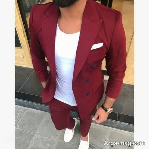 مدل های ست کت تک مردانه با تیشرت