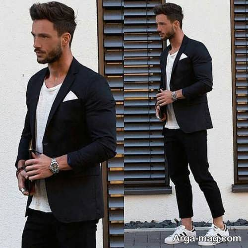 کت تک مردانه با تیشرت