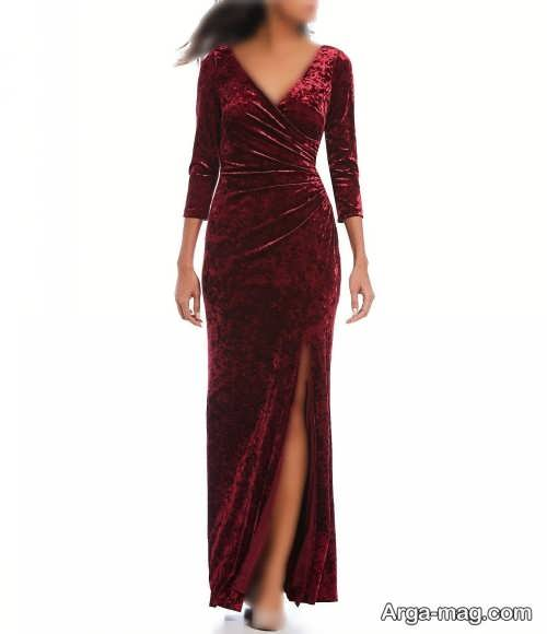 مدل لباس مجلسی بلند و چاک دار