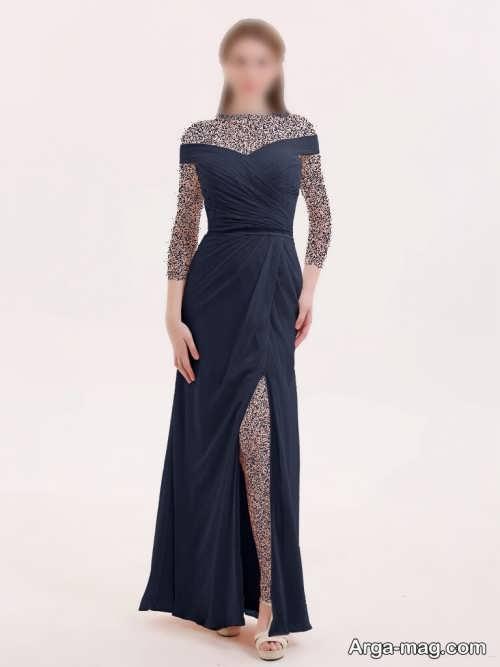 مدل لباس مجلسی چاک دار و زیبا