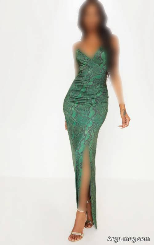 مدل لباس مجلسی چاک دار