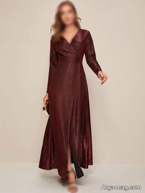 لباس مجلسی پوشیده و چاک دار