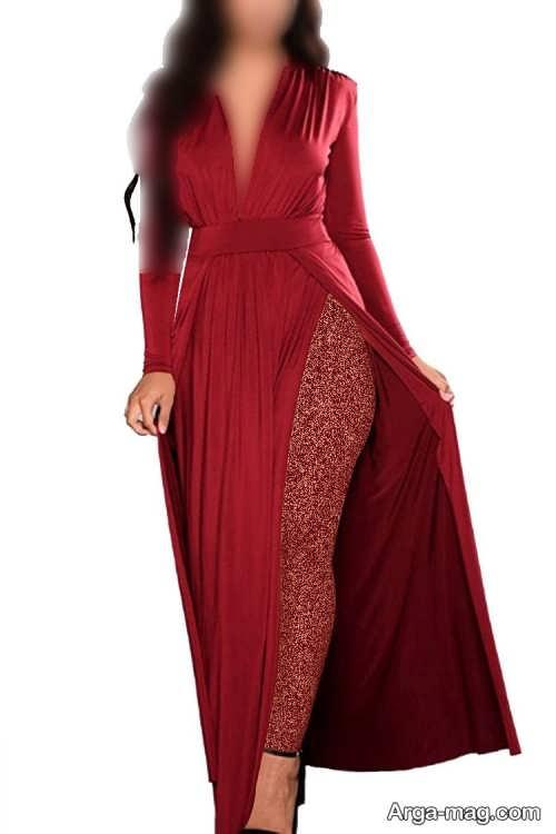 مدل لباس مجلسی زیبا و چاک دار