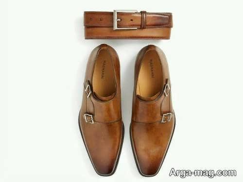 ست زیبا کمربند و کفش مردانه