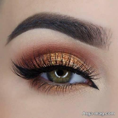 آرایش چشم مخصوص فصل پاییز