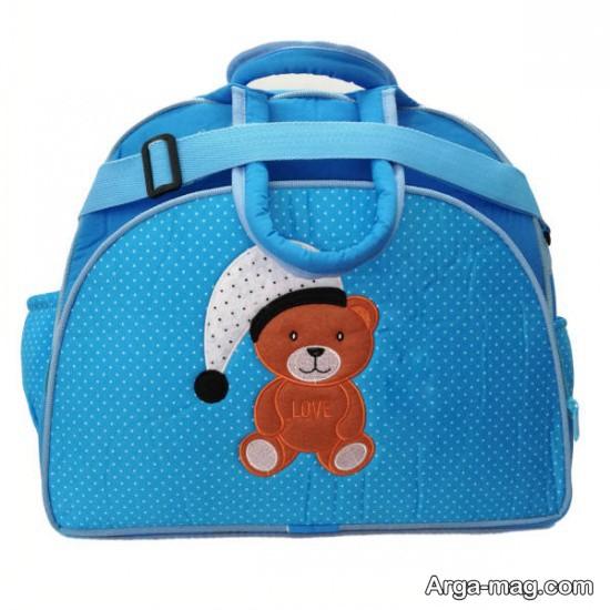 نمونه کیف آبی لوازم نوزاد