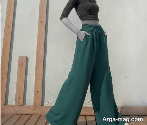 مدل شلوار بگ زنانه سبز