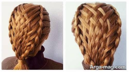 بافت مو زیبا و خاص سبدی