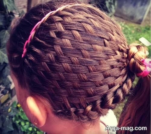 بافت موی سبدی دخترانه