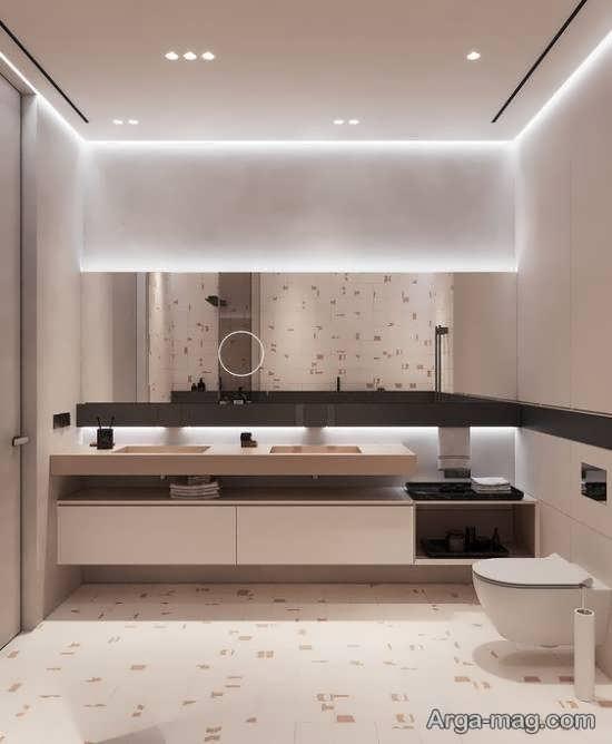 گالری لوکسی از نورپردازی سرویس بهداشتی