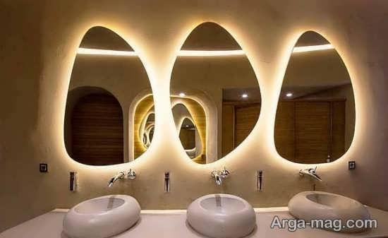 ایده هایی جذاب و مدرن از نورپردازی سرویس بهداشتی