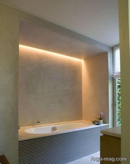 نورپردازی سرویس بهداشتی با ساتفاده از وسایل روشنایی بخش کاربردی