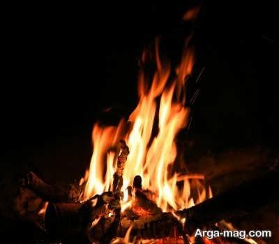 متن زیبا در مورد آتش