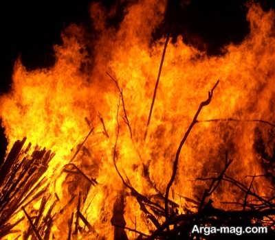 جملات زیبا و دلنشین درباره آتش