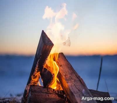 جملات در مورد آتش