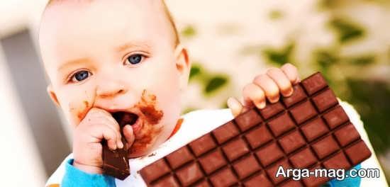 عوارض شکلات برای کودک