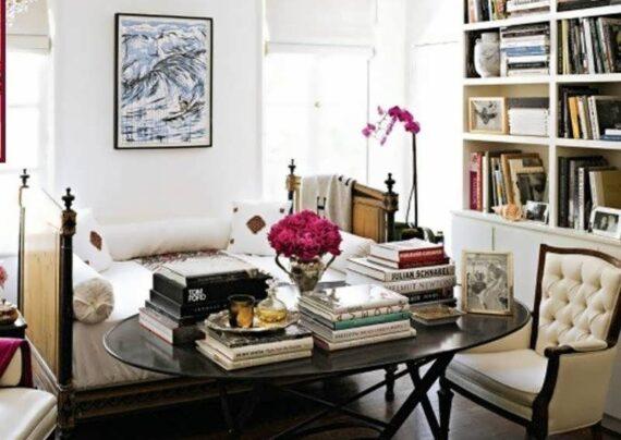 طرح هایی ایده آل از تزیین اتاق با کتاب