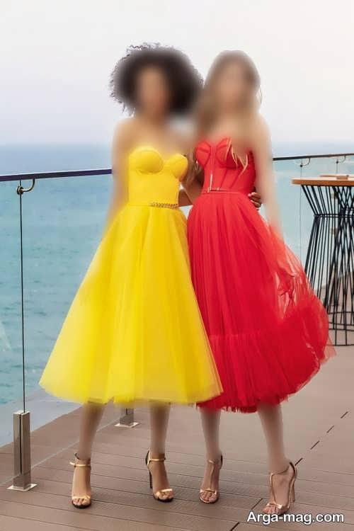 مدل لباس مجلسی دخترانه 2022 کوتاه و بلند
