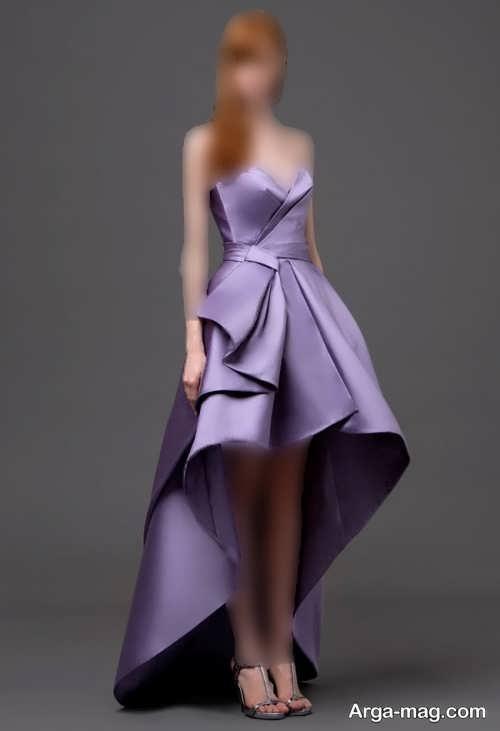 مدل لباس مجلسی بنفش دخترانه 2022