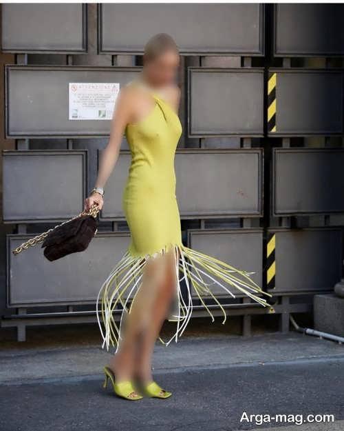 مدل لباس مجلسی زرد 2022