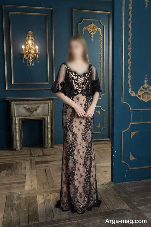 مدل لباس مجلسی دخترانه پوشیده و آستین دار 2022