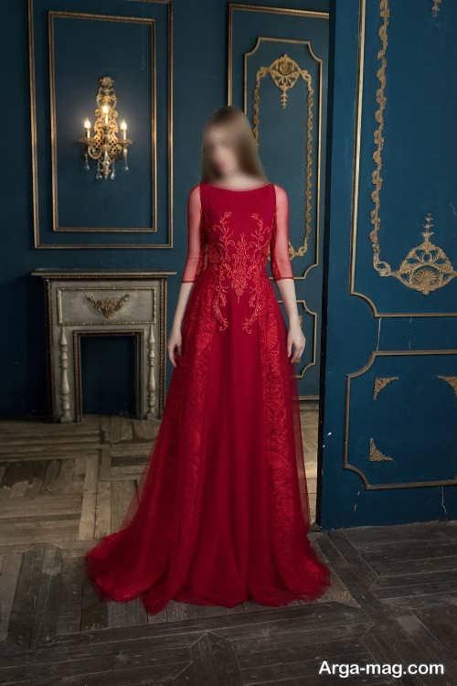 طرح های لباس مجلسی قرمز 2022