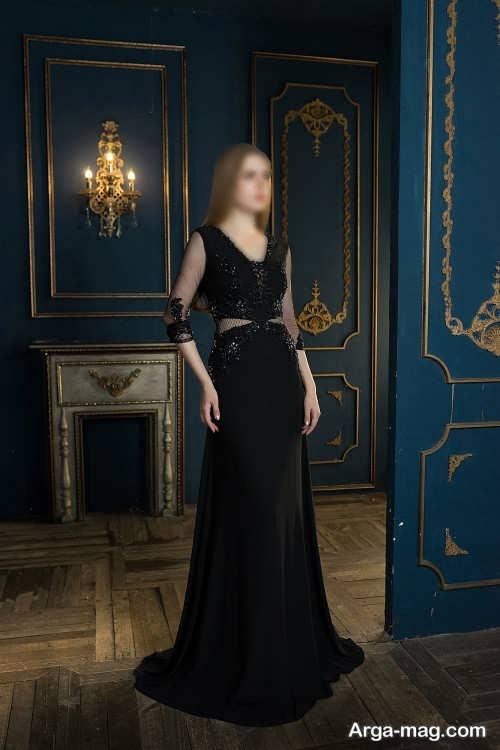 لباس مجلسی مشکی دخترانه 2022