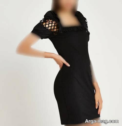 مدل لباس مجلسی کوتاه و مشکی