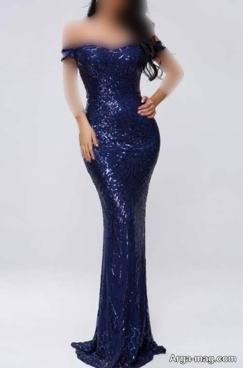 مدل لباس مجلسی دخترانه رنگ تیره 2022