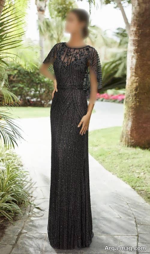 مدل لباس مجلسی مشکی 2022 دخترانه