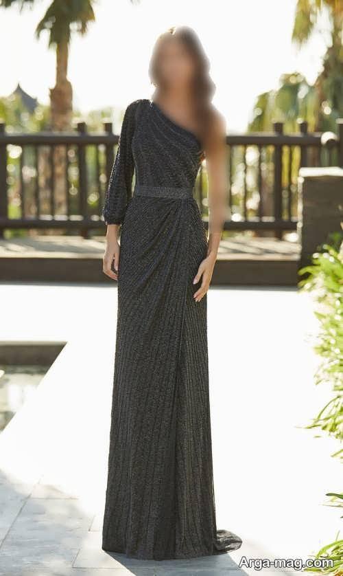 مدل لباس مجلسی رنگ تیره و زیبا 2022