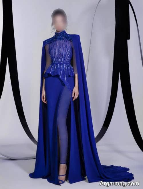مدل لباس مجلسی آبی دخترانه 2022