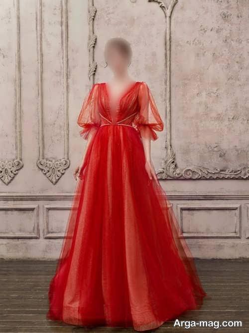لباس مجلسی قرمز 2022