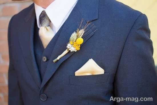 الگوهای زیبای گل سینه داماد
