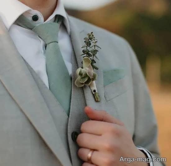 مدل گل سینه داماد شیک و زیبا