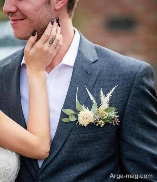 مدل های زیبای گل سینه داماد