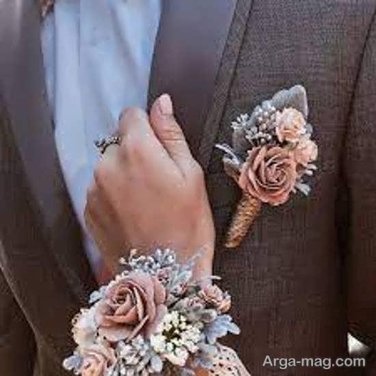 طرح هایی خلاقانه گل سینه داماد