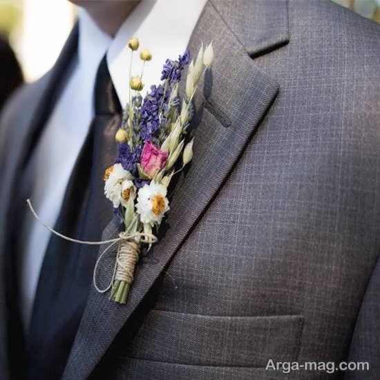 طرح های زیبا و دوست داشتنی گل سینه داماد